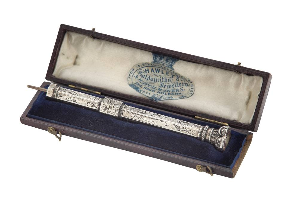Retractable pencil in case, c.1872 © The Foundling Museum